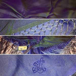 NWT Ralph Lauren Iridescent Shawl Wrap with Fringe